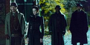 Josh Hartnett, Eva Green og Timothy Dalton i Penny Dreadful