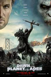 Dawn of the Planet of the Apes - norsk plakat