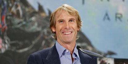 Michael Bay på premieren til Transformers 4 i Berlin