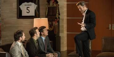 Charlie Day, Jason Sudeikis, Jason Bateman og Chris Pine i Horrible Bosses 2