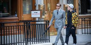 Colin Firth og Taron Egerton i Kingsman: The Secret Service