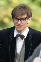 Eddie Redmayne på settet til The Theory of Everything