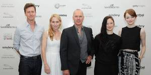 Edward Norton, Amy Ryan, Michael Keaton, Andrea Riseborough og Emma Stone promoterer Birdman i Venezia 2014