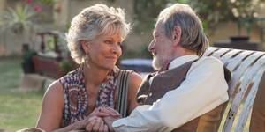 Diana Hardcastle og Ronald Pickup i The Second Best Exotic Marigold Hotel