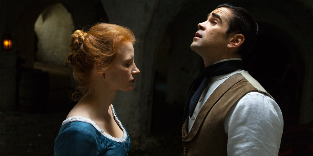 Jessica Chastain og Colin Farrell i Frøken Julie