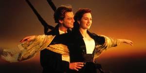 Leonardo DiCaprio og Kate Winslet i Titanic