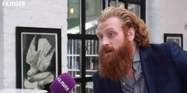 Kristofer Hivju p� pressedag for Turist