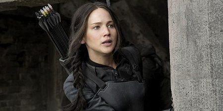 Jennifer Lawrence i The Hunger Games: Mockingjay - Part 1
