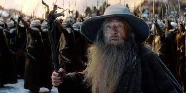 Gandalf (Ian McKellen) i Hobbiten: Femhærerslaget