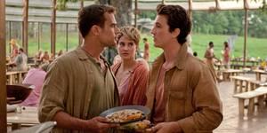 Theo James, Shailene Woodley og Miles Teller i Insurgent