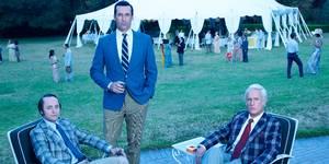 Vincent Kartheiser, Jon Hamm og John Slattery i Mad Men - sesong 7