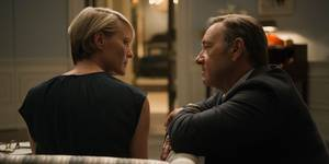 Robin Wright og Kevin Spacey i House of Cards - sesong 3