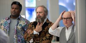 Craig Robinson, Rob Corddry og Clark Duke i Hot Tub Time Machine 2