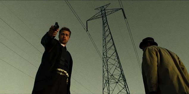 Brad Pitt og Morgan Freeman i Se7en