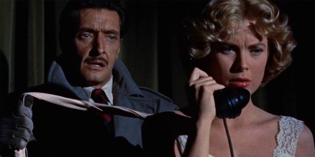 Anthony Dawson og Grace Kelly i Dial M for Murder