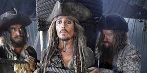 Johnny Depp i Pirates of the Caribbean: Dead Men Tell No Tales