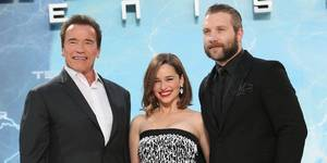 Arnold Schwarzenegger, Emilia Clarke og Jai Courtney promoterer Terminator Genisys i Berlin
