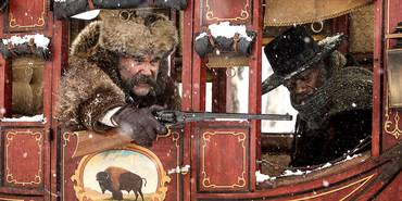 Kurt Russell og Samuel L. Jackson i The Hateful Eight
