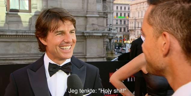 Tom Cruise på verdenspremiere til Mission: Impossible - Rogue Nation i Wien