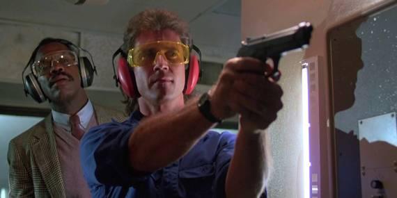 Danny Glover og Mel Gibson i Dødelig våpen