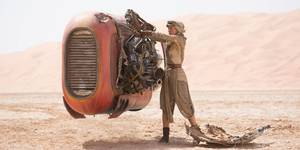 Daisy Ridley i Star Wars: The Force Awakens