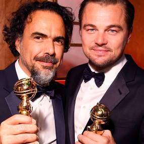 Alejandro Gonz�lez I��rritu og Leonardo DiCaprio, Golden Globes 2016