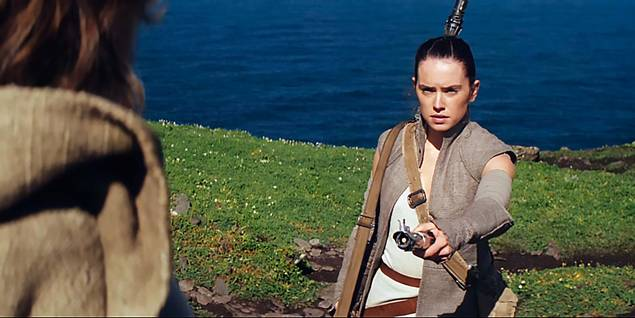 Daisey Ridley i Star Wars: The Force Awakens