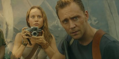 Brie Larsson og Tom Hiddleston i Kong: Skull Island