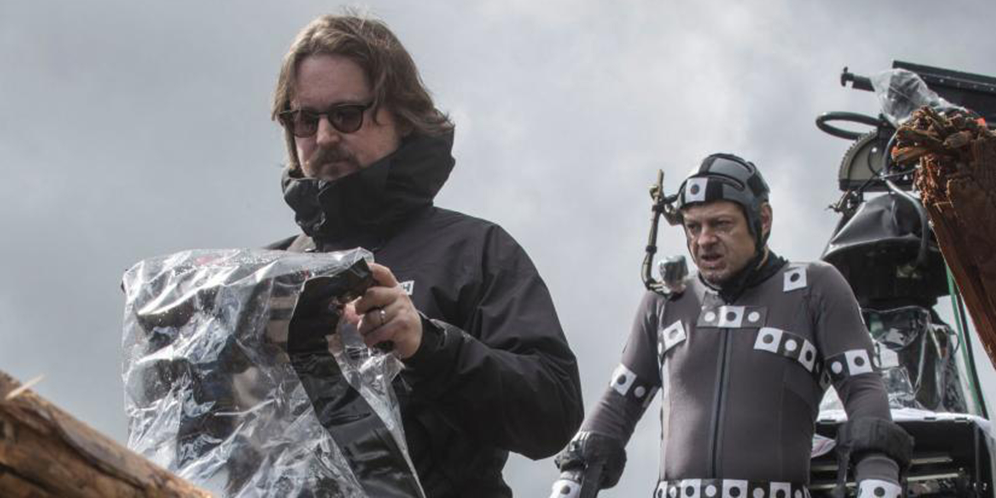 REGISSØR: Matt Reeves og Andy Serkis på settet til War for the Planet of the Apes