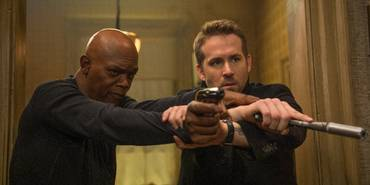 Samuel L. Jackson og Ryan Reynolds i The Hitman's Bodyguard