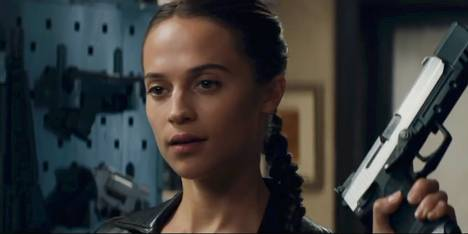 Alicia Vikander as Tomb Raider