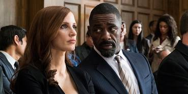 Jessica Chastain og Idris Elba i Molly's Game