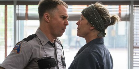 Sam Rockwell og Frances McDormand i Three Billboards Outside Ebbing, Missouri