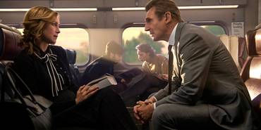 Vera Farmiga og Liam Neeson i The Commuter