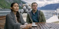 Hong Chau og Matt Damon i Downsizing