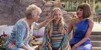 Julie Walters, Amanda Seyfried og Christine Baranski i Mamma Mia: Here We Go Again