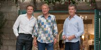 Colin Firth, Stellan Skarsgård og Pierce Brosnan i Mamma Mia: Here We Go Again