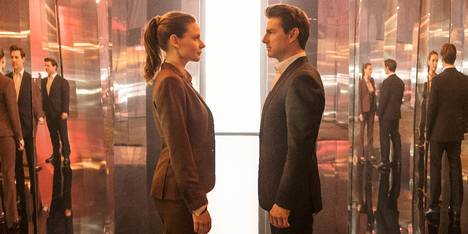 Rebecca Ferguson og Tom Cruise i Mission: Impossible - Fallout