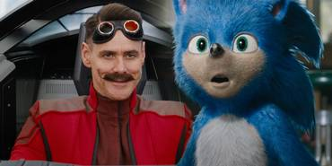 Jim Carrey og Sonic i Sonic the Hedgehog