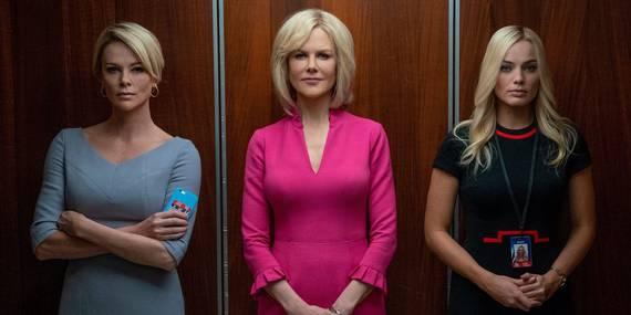 Charlize Theron, Nicole Kidman og Margot Robbie i Bombshell