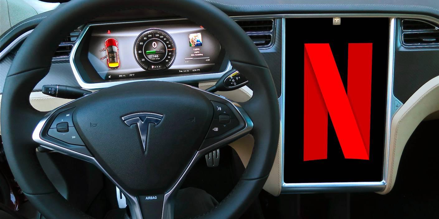 Med nytt Tesla-software kan du se på Netflix i bilen