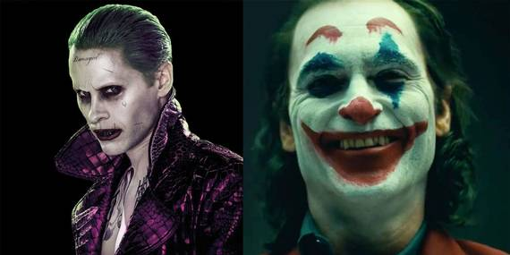 Jared Leto og Joaquin Phoenix som Joker