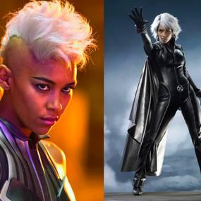Alexandra Shipp og Halle Berry som Storm fra X-Men