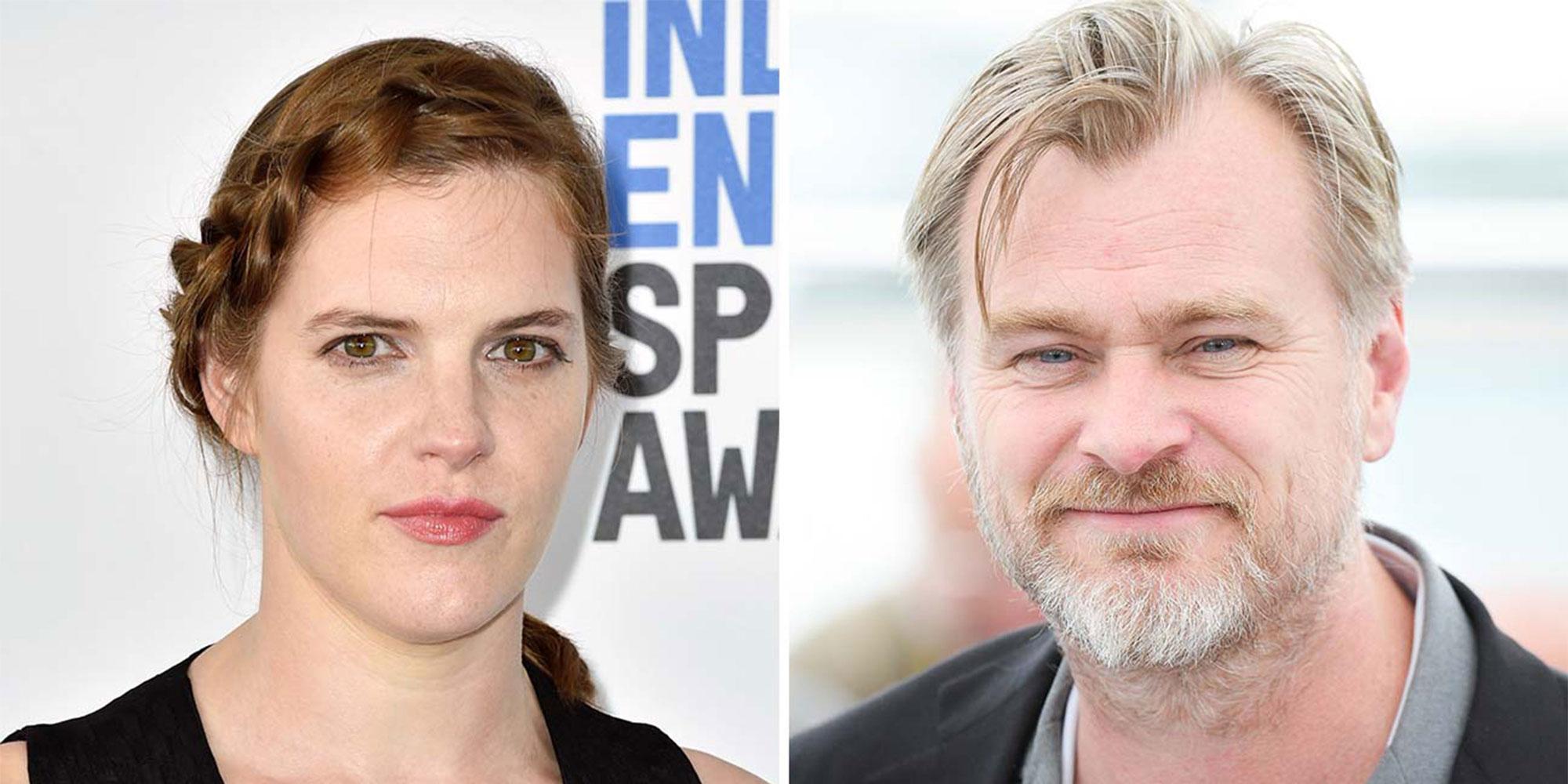 SAMARBEIDER PÅ TENET: Filmklipper Jennifer Lame og regissør Christopher Nolan.