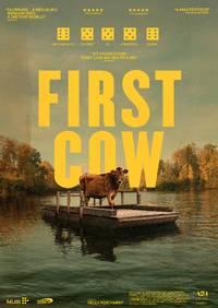 FIRST COW plakat med terninger
